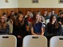 Zdjęcie ze spotkania doradców zawodowych PUP w Puławach z uczniami III klasy gimnazjum w 2015 roku