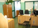 Zdjęcie pokoju rejestracji osób w siedzibie PUP w Puławach przy ul. Lubelskiej 2G