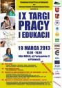 Plakat IX Targów Pracy i Edukacji