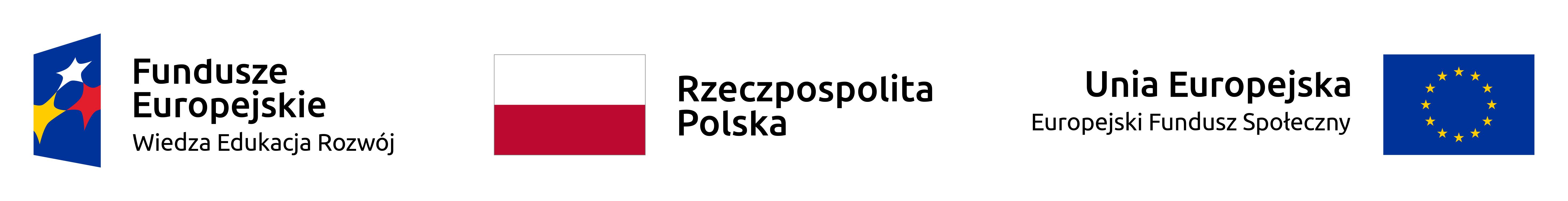 Logotyp programu Europejskiego Funduszu Społecznego Program Operacyjny Wiedza Edukacja Rozwój w 2018 roku